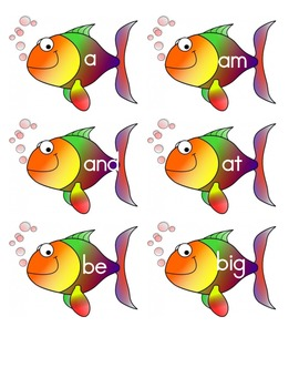 Sight Word Fish - Kindergarten