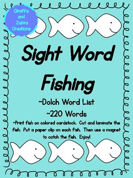Sight Word Fishing (Dolch Word List)
