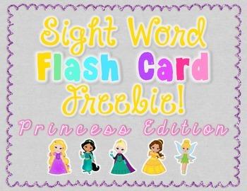 Sight Word Flash Cards - Princess Edition