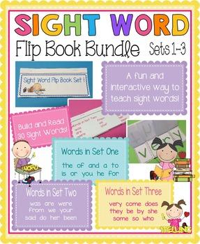 Sight Word Flip Book Bundle (Sets 1-3)