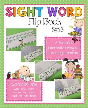 Sight Word Flip Book - Set 3