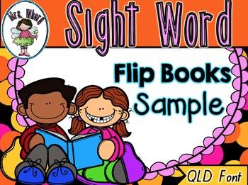Sight Word Flip Book  {Turn & Learn} QLD Font SAMPLE