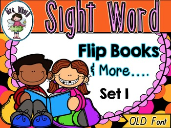 Sight Word Flip Book  {Turn & Learn} SET 1 (QLD)