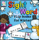 Sight Word Flip Books for Winter