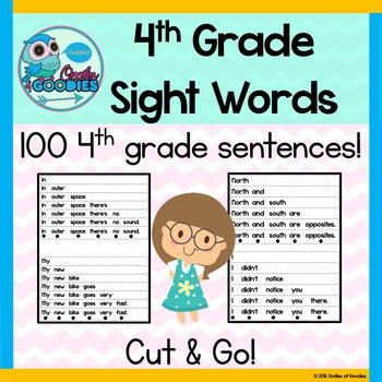 Sight Word Fluency (4th Grade)
