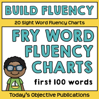 Sight Word Fluency Charts -Fry's First 100 Words