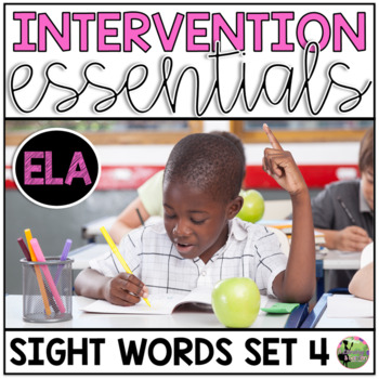 Sight Word Fluency Essentials #4: Intervention and Small G