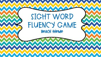 Sight Word Fluency Game