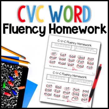 C-V-C Word Fluency Homework
