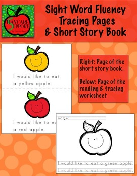 Apples Sight Word Fluency Pages and Book (by Priscilla Bet
