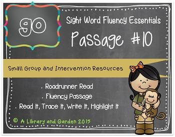 Sight Word Fluency Passage #10: GO