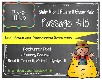 Sight Word Fluency Passage #15: HE