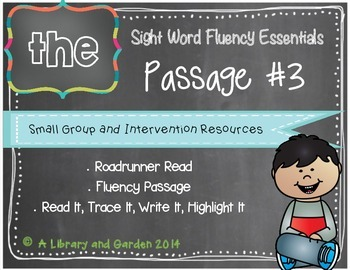 Sight Word Fluency Passage #3: THE