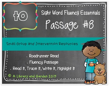 Sight Word Fluency Passage #8: TO