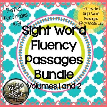 Sight Word Fluency Passages-Bundle