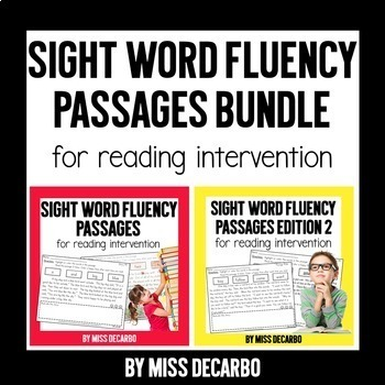 Sight Word Fluency Passages for Reading Intervention BUNDLE PACK