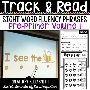 Sight Word Fluency Phrases {Track and Read Pre-Primer Volume 1}