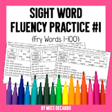 Sight Word Fluency Practice 1 Fry Words 1-100