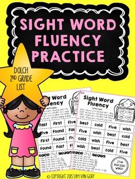 Sight Word Fluency Practice *2nd Grade*