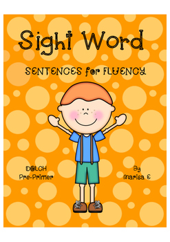 Sight Word Fluency Sentences DOLCH Pre-Primer