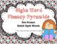 Sight Word Fluency Pyramid Task Cards {Pre-Primer Dolch Si