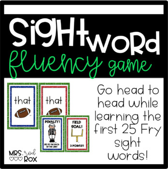 Sight Word Fluency Game - FRY words 1-25