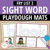 Sight Word Fry List 3 Play Dough Activity Mats:Build, Read