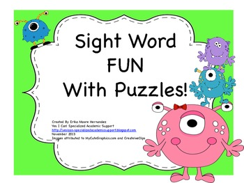 Sight Word Fun With Puzzles! :o)