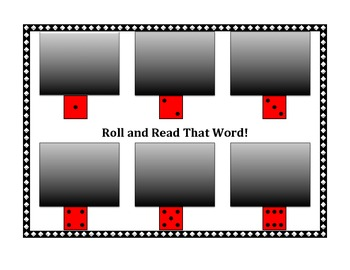 Sight Word Flashcard Game - Roll and Read That Word!