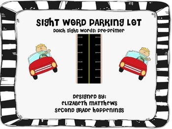Sight Word Parking Lot Game- Pre-Primer