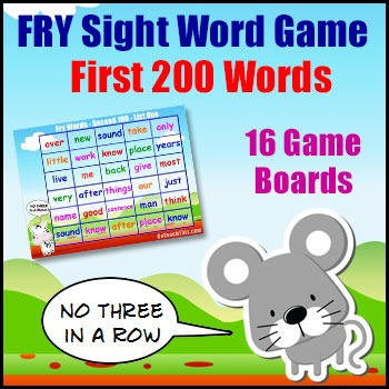Sight Word Games - Fry List - First 200 Words