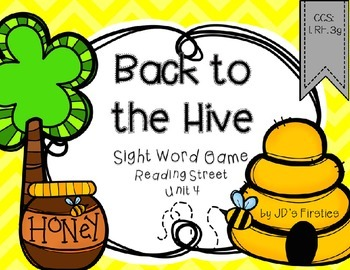 Sight Word Game: Back to the Hive - Unit 4