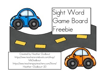 Sight Word Game Board Freebie