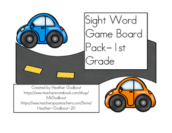 Sight Word Game Board Pack-1st Grade
