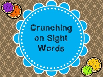 Sight Word Game: Crunching on Sight Words!