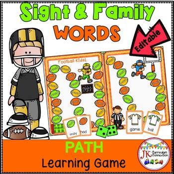 Sight Word Game Football Game FREEBIE {EDITABLE}