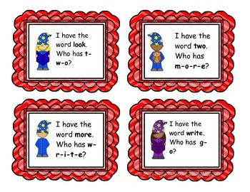 """Sight Word Game: """"I Have, Who Has"""" (Fry List 3)"""