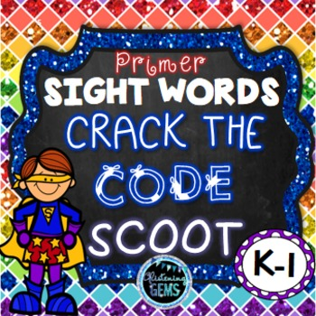 Sight Word Game -Dolch  Primer Sight Words - Mystery Code
