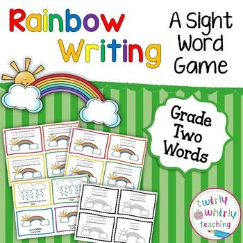 Dolch Sight Word Rainbow Writing Grade 2 List