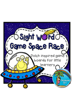 """Dolch Sight Words Game """"Space Race"""" {color & black and white}"""