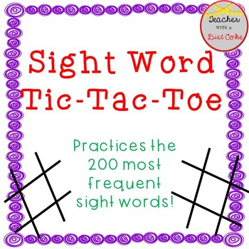 Sight Word Game- Tic-Tac-Toe