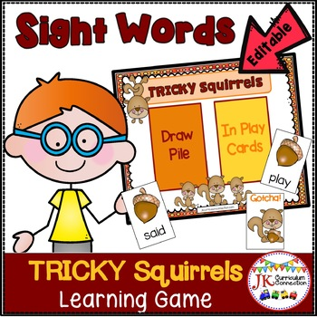 Sight Word Game -Tricky Squirrels!