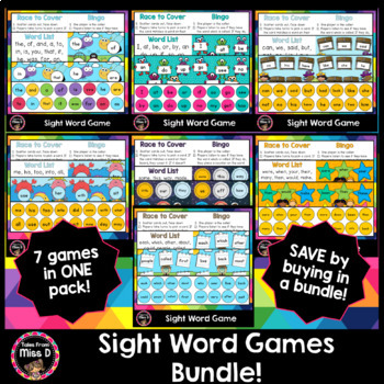 Sight Word Games Bundle
