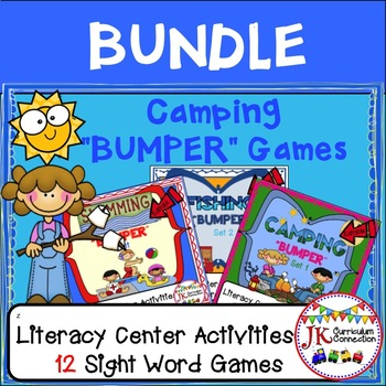 Sight Word Games: Camping, Fishing, & Swimming Bumper BUND