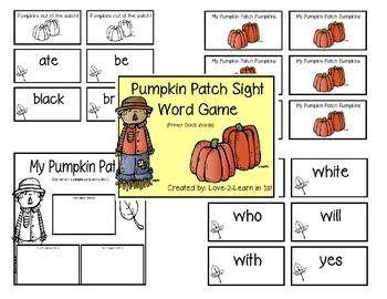 Sight Word Games-Fall Bundle