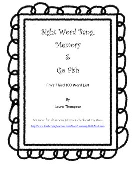 Sight Word Games - Fry's third 100