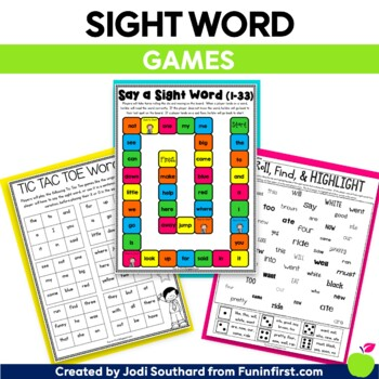 Sight Word Games {No Prep}