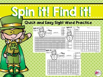 Sight Word Games St. Patrick's Day