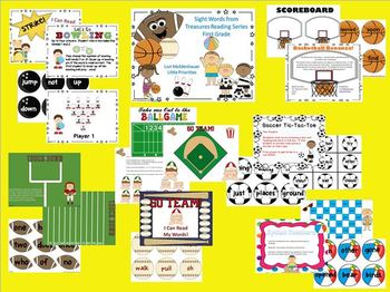 Sight Word Games for Treasures Reading Series First Grade