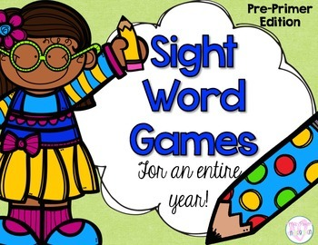 Sight Word Games {for the year} Pre-Primer Edition